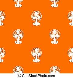 arancia, modello, ventilatore
