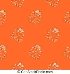 arancia, modello, vettore, eco, sounder