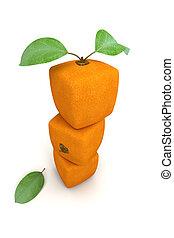 arancia, mucchio