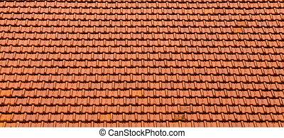 arancia, nuovo, tegole, tetto