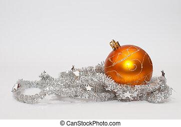 arancia, palla, natale