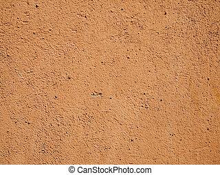 arancia, parete, cemento