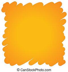 arancia, penna, feltro, pieno, fondo