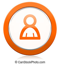 arancia, persona, icona
