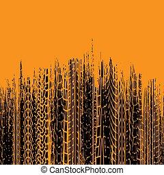 arancia, pneumatico, spazzolato, verticale, fondo