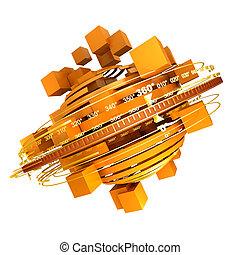 arancia, rotazione
