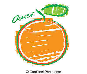 arancia, schizzo