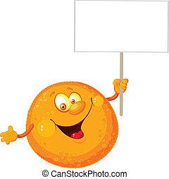 arancia, segno bianco
