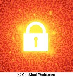 arancia, serratura, ardendo