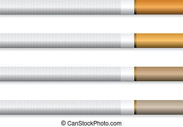 arancia, sigarette, vettore, -, filtro
