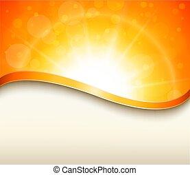 arancia, soleggiato, fondo
