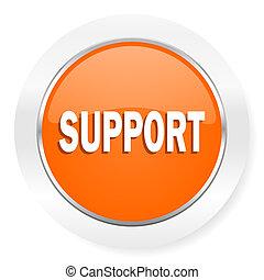 arancia, sostegno, icona computer
