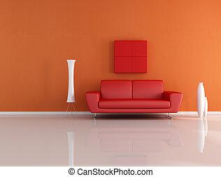 arancia, stanza, rosso, amare