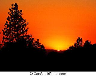 arancia, tramonto