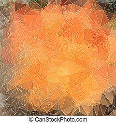 arancia, triangoli, fondo, astratto
