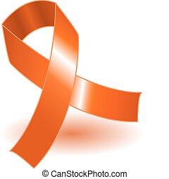 arancia, uggia, consapevolezza, nastro