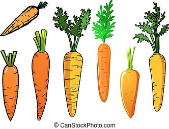 arancia, verdure fresche, carota, isolato