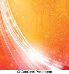 arancia, vettore, fondo