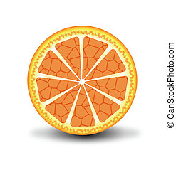 arancia, vettore, frutte