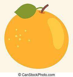 arancia, vettore, illustrazione