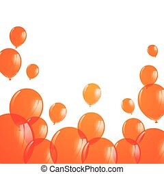 arancia, vettore, palloni