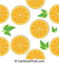 arancia, vettore, seamless, fondo