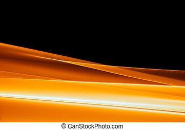 arancia, vibrante, sfondo nero