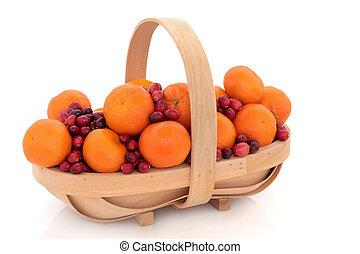 arando, e, mandarin, fruta