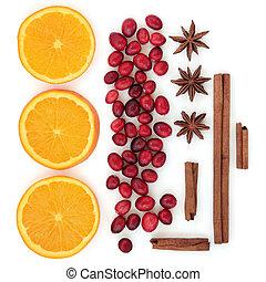 arando, laranja, e, temperos