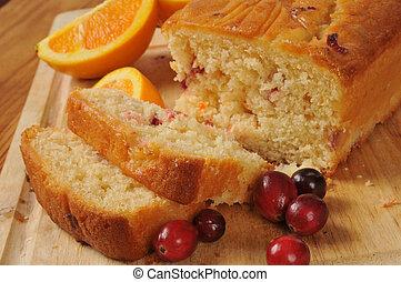arando, laranja, pão