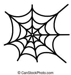 aranha, rede, vetorial, fundo