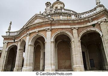 aranjuez, 宮殿, san, 教会, gate., antonio., 本, スペイン, マドリッド