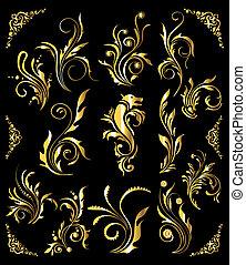 arany-, állhatatos, szüret, díszítés, dekoráció, alapismeretek, virágos