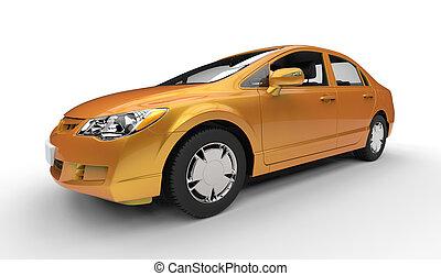 arany-, ügy, autó