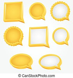arany-, alakú, szöveg, sima, buborék, felhő