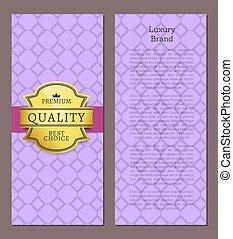 arany-, approves, címke, fényűzés, minőség, márka