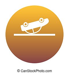 arany-, b betű, gradiens, autó, cégtábla., karambolozott, white körbejár, ikon