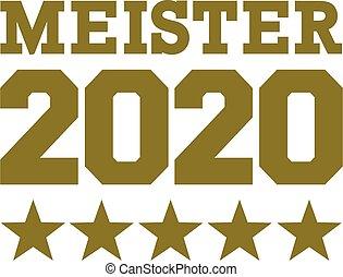 arany-, csillaggal díszít, 2020, bajnok