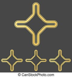 arany-, díszlet tervezés, jel, egyenes, egyesített