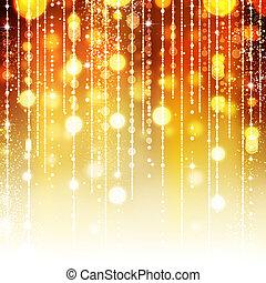 arany-, elvont, ünnep, háttér