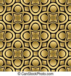 arany-, elvont, seamless, motívum