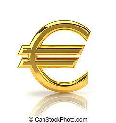 arany-, euro cégtábla, white