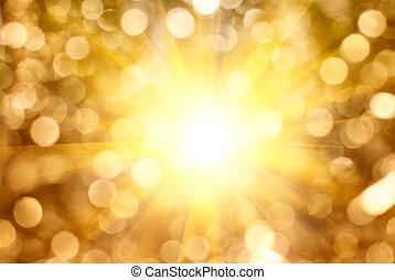 arany-, fény