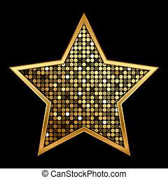 arany, fényes, csillag