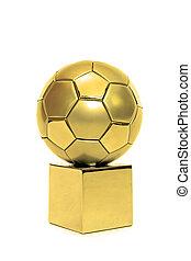 arany-, futball, adományoz