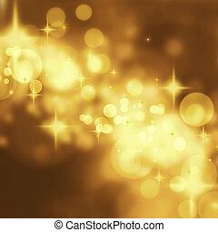 arany- háttér, elvont, ünnep, weddi, fényűzés, csillaggal ...