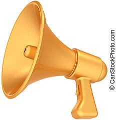 arany-, hangszóró, fényűzés, ikon