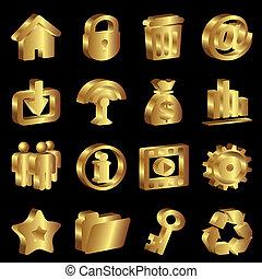 arany, ikonok