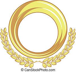arany-, jelvény, díszítés