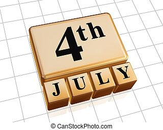 arany-, july fourth